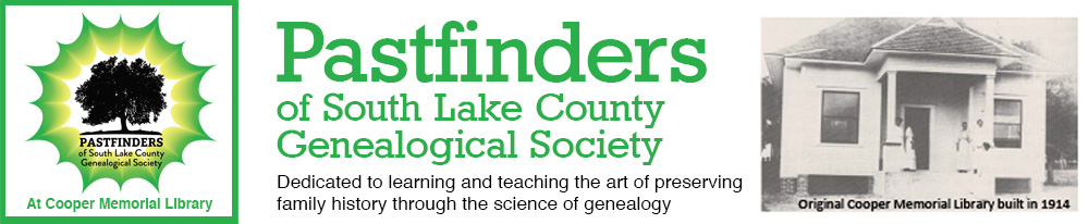 Pastfinders Genealogical Society of South Lake County